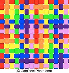 arco íris, tecido, seamless, fundo