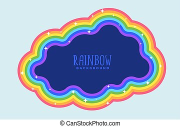 arco íris, texto, nuvem, espaço