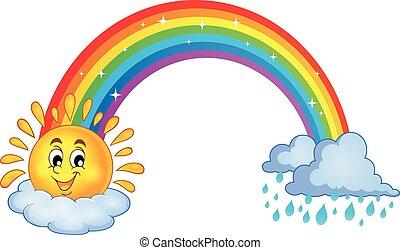 arco íris, topic, imagem, 3