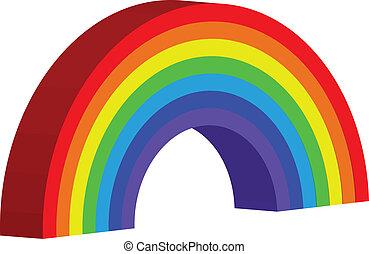 arco íris, vetorial, ilustração