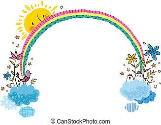 arco íris, vista