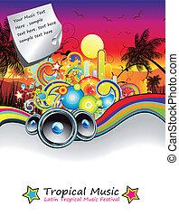 arco íris, voador, música, evento