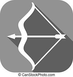 arco, appartamento, icona, freccia