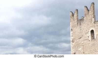 Arco castle in Italy - Ruins of an old castle, Castello...