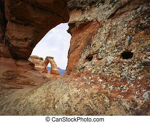 arco delicado, arco natural, arcos parque nacional, moab,...