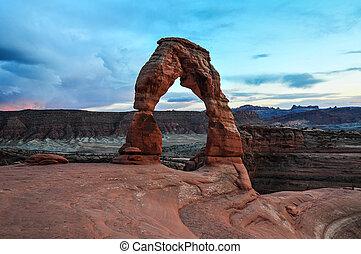 arco delicado, de, arcos parque nacional