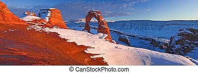 arco delicado, utah, arcos parque nacional