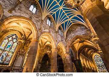 arco, en, la catedral, edimburgo