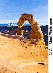 arco, estados unidos de américa, parque, nacional, utah, arcos, delicado