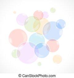 arco irirs, burbujas