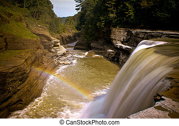 arco irirs, cascada