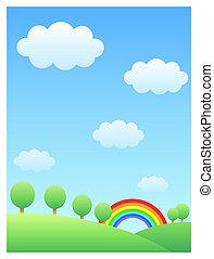 arco irirs, colina, y