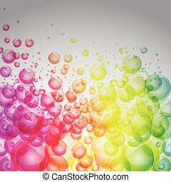 arco irirs, color, burbujas