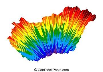 arco irirs, colorido, mapa, patrón, resumen, -, diseñado, ...