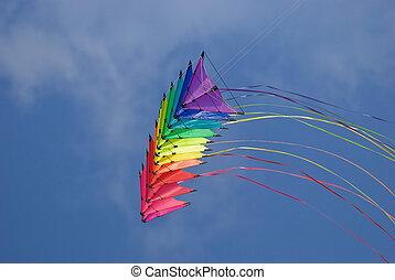 arco irirs, cometas, truco