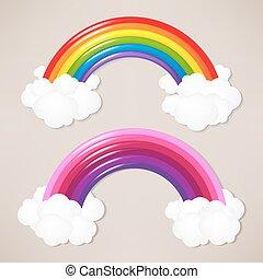 arco irirs, conjunto, colorido