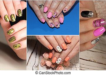 arco irirs, diseños, colorido, verano, colección, clavo, winte