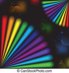 arco irirs, elementos, negro