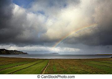 arco irirs, encima, staffin, isla