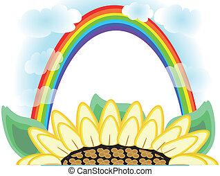 arco irirs, flor