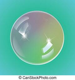 arco irirs, jabón burbujea, eps10, vector