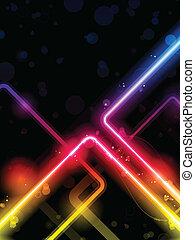 arco irirs, laser, neón, líneas, plano de fondo