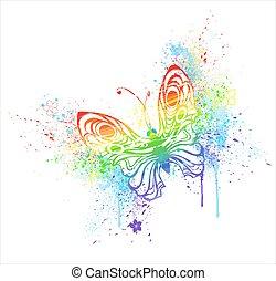 arco irirs, mariposa