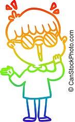 arco irirs, niño, gradiente, se dar cuenta, dibujo,...