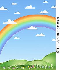 arco irirs, plano de fondo