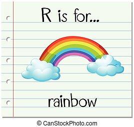 arco irirs, r, carta, flashcard