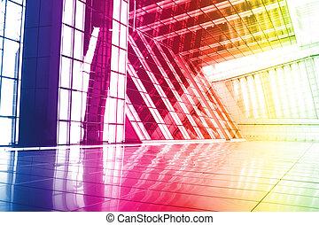 arco irirs, resumen, papel pintado, creativo, plano de...