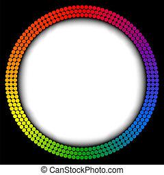 arco irirs, resumen, vector, marco
