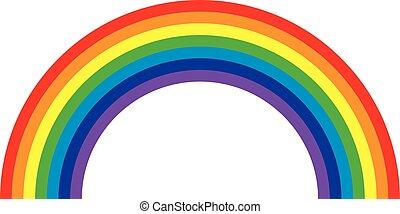 arco irirs, vector, ilustración