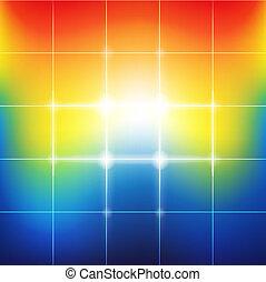 arco irirs, vibrante, resumen, confuso, colores, plano de ...