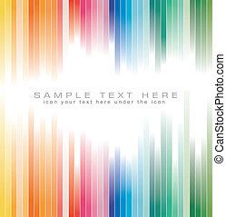 arco iris colora, fondo rayado, para, folleto
