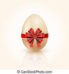 arco rojo, en, huevo de pascua