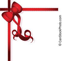 arco rosso, per, regali, disegno
