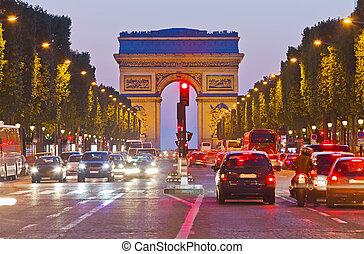 arco triunfo, parís, francia