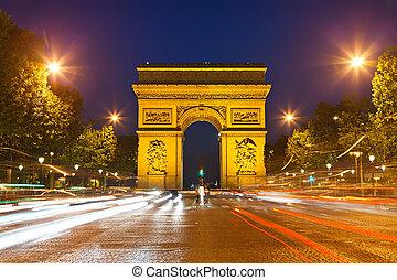 arco triunfo, paris, frança