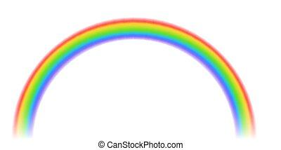 arcobaleno, astratto, colorito, sagoma