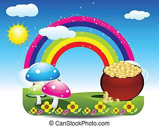 arcobaleno, astratto, indietro, patrick st