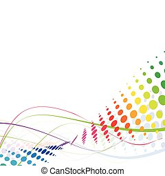 arcobaleno, astratto, linea, onda