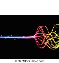 arcobaleno, astratto, lines., colorito