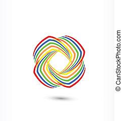arcobaleno, astratto, logotipo