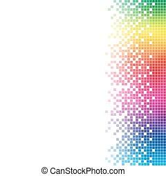 arcobaleno, astratto, space., vettore, sagoma, bianco, copia, mosaico