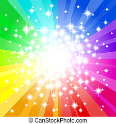 arcobaleno, astratto, stella, sfondo colorato
