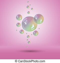 arcobaleno, bolle, bolla, multicolor, sapone