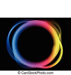 arcobaleno, border., cerchio