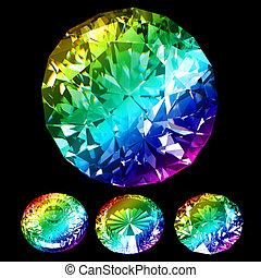 arcobaleno, brillante