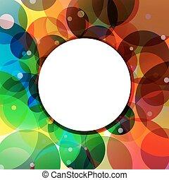 arcobaleno, cerchio, giungla, fondo